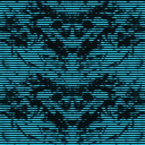 Teal Striped Grunge