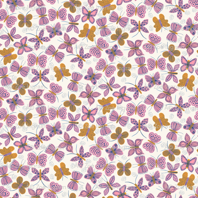 Pink Mustard Butterflies