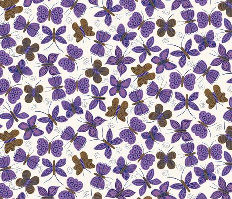Purple Butterflies fabric by zoe_ingram on Spoonflower - custom fabric
