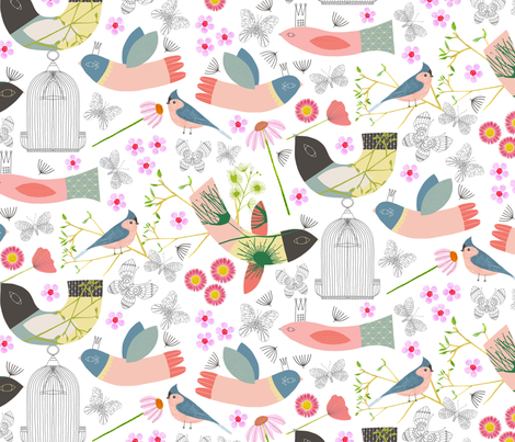 Soar fabric by zoe_ingram on Spoonflower - custom fabric