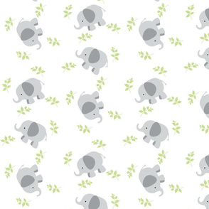 Elephant Around MED Gray Green leaves