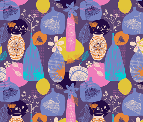 Vases fabric by zoe_ingram on Spoonflower - custom fabric