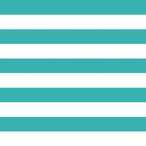 wide stripes tiffany blue