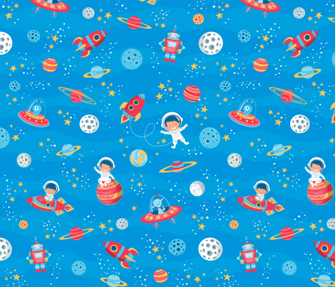 Cosmic trip fabric crixtina spoonflower for Cosmic print fabric