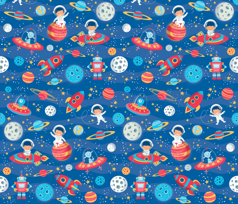 Cosmic trip giftwrap crixtina spoonflower for Cosmic print fabric