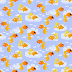 Goldfish on a blue sky