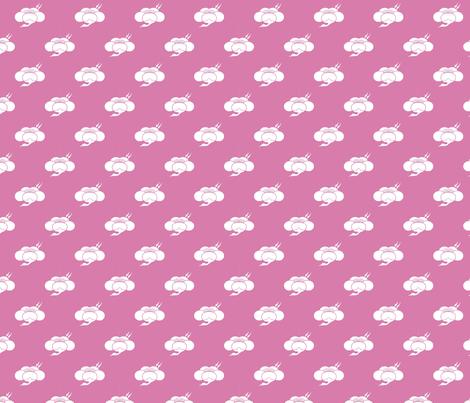 Plum & Crane fabric by floramoon on Spoonflower - custom fabric