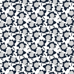Hydrangea in navy - SMALL