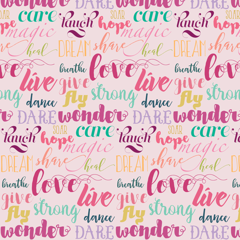 Positive Vibes fabric by mariah_girl on Spoonflower - custom fabric