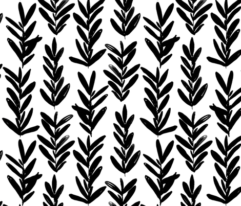 sage - black and white fabric by jillbyers on Spoonflower - custom fabric