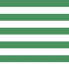 wide stripes forest green