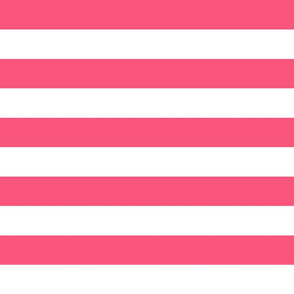 wide stripes bubble gum pink