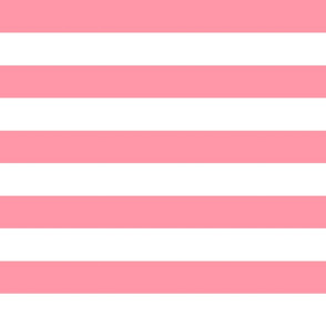 wide stripes blush pink