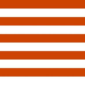 wide stripes squash orange