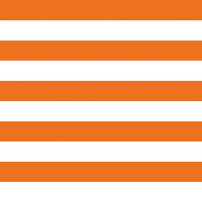 wide stripes carrot orange