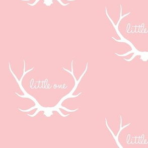 Little One - pink and white deer elk antlers