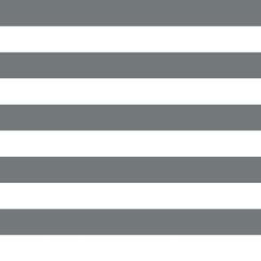 wide stripes dark platinum grey