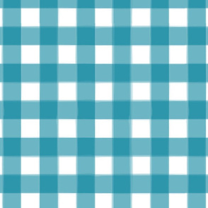 brushed wide gingham ocean blue