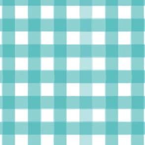 brushed wide gingham tiffany blue