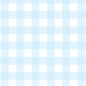 brushed wide gingham sky blue