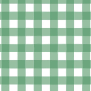 brushed wide gingham forest green