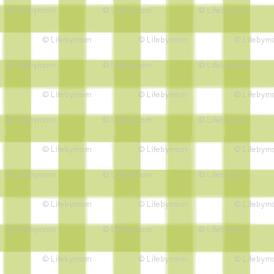 brushed wide gingham pea green