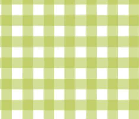 brushed wide gingham pea green fabric by lifebymom on Spoonflower - custom fabric