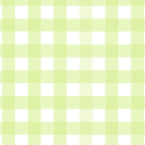 brushed wide gingham lime green