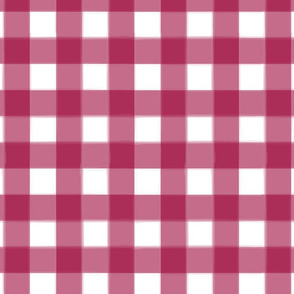 brushed wide gingham merlot red