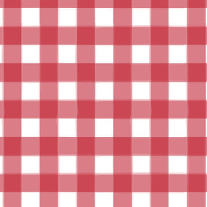 brushed wide gingham crimson red