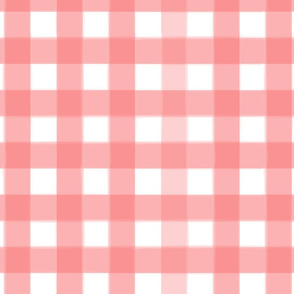 brushed wide gingham coral