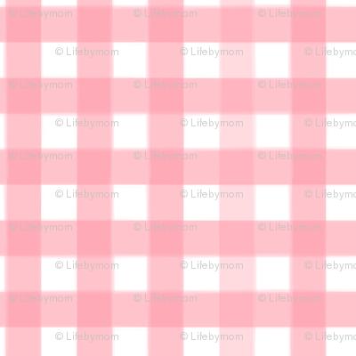 brushed wide gingham blush pink