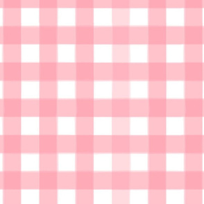 brushed wide gingham blush pink