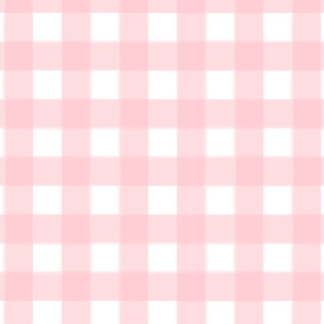 brushed wide gingham rose pink