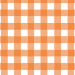 brushed wide gingham carrot orange