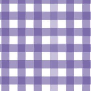 brushed wide gingham indigo purple
