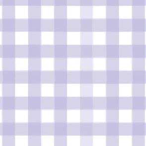 brushed wide gingham lavender purple