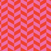 Pink and Cherry Red Herringbone_Miss Chiff Designs
