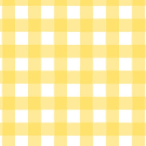 brushed wide gingham butter yellow