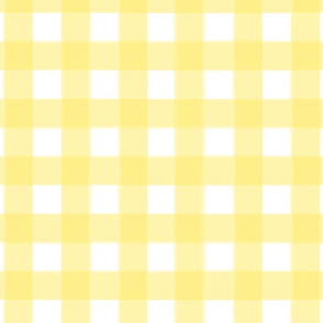brushed wide gingham yolk yellow