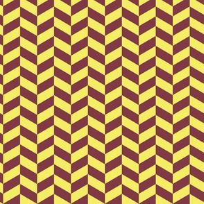 Herringbone Lemon Maroon_Miss Chiff Designs