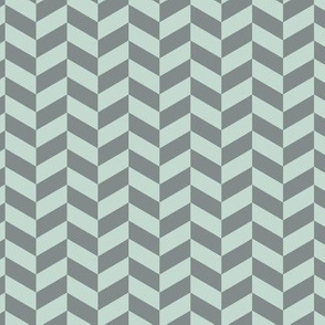 Modern Herringbone || Celadon Mint Green Seafoam Blue Gray grey _Miss Chiff Designs