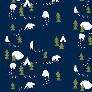 Bear Trail //winter edition - navy