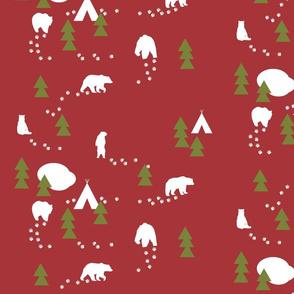 Bear Trail //winter edition - scarlet