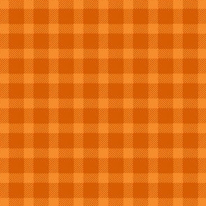 Lumberjack Plaid in Burnt Orange