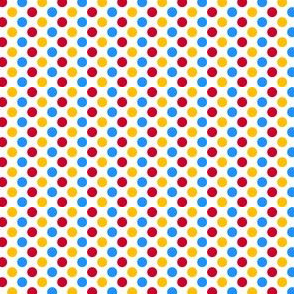 Primary Polka Dots -  White