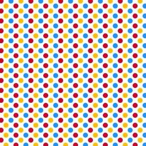 Primary Polka Dots -  White