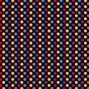 Primary Polka Dots - Black