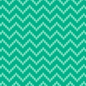 Stepladder Zig Zag in Teal