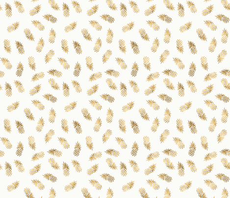 Gold_Pineapple_Toss fabric by crystal_walen on Spoonflower - custom fabric